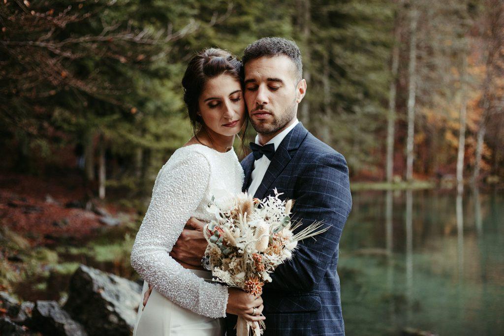 UtopicLovers film photo Mariage Elopement 2019 155 1 1024x683 - Un elopement entre lac émeraude et forêt de sapins à Chamonix.